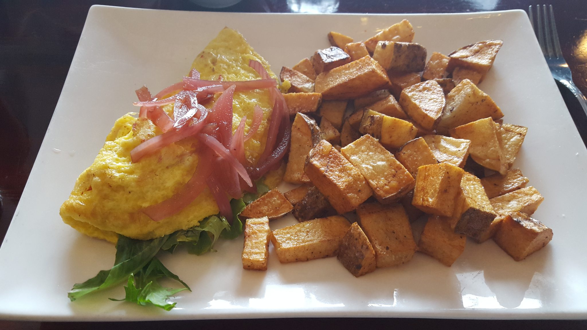 crawfish omelet with potatoes